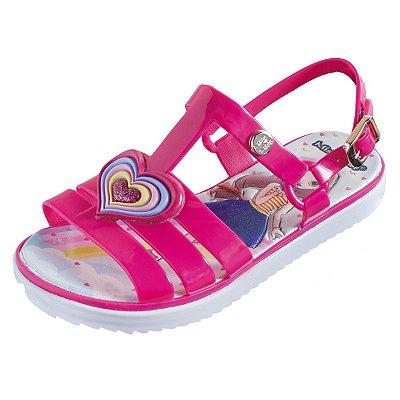 Sandália Infantil Sola Baixa Heart 145 - Pink