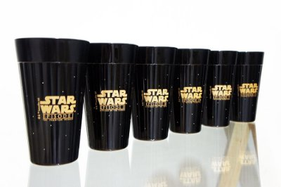 Kit 6 Copos Long Drink Trilogias Star Wars - 450ml