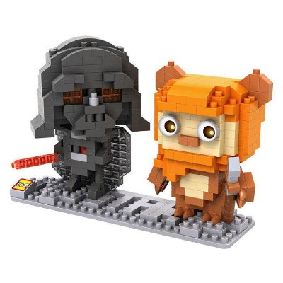 Mini Blocos DARTH VADER / EWOK - Loz Star Wars