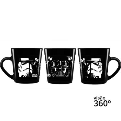 Caneca Star Wars Darth Vader / Stormtroopers - Disney - 270 ml