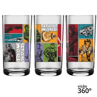 Copo Long Drink Star Wars Comics  - Disney - 300 ml