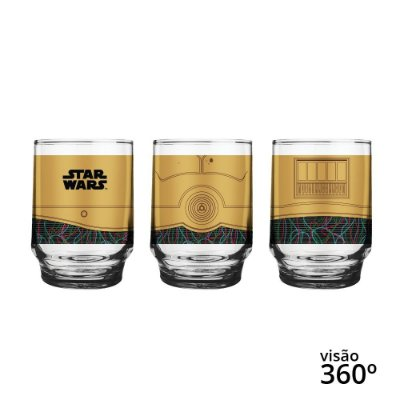 Copo Star Wars Figurinhas C3-PO - Disney - 260 ml