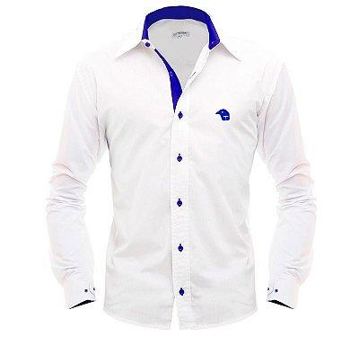 Camisa Social • Branca/Azul • Paraná Clube