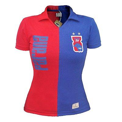 Camisa Retrô FEMININA Vermelha/Azul • Anos 90 • Paraná Clube