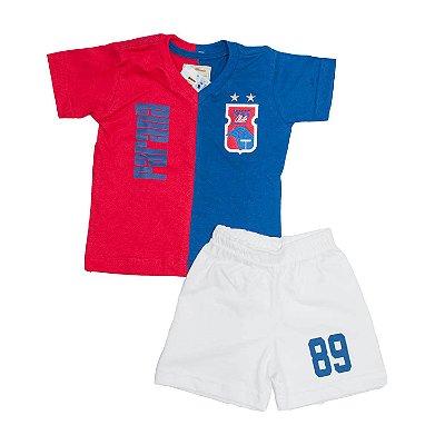 Kit Retrô INFANTIL Vermelho/Azul • Anos 90 • Paraná Clube
