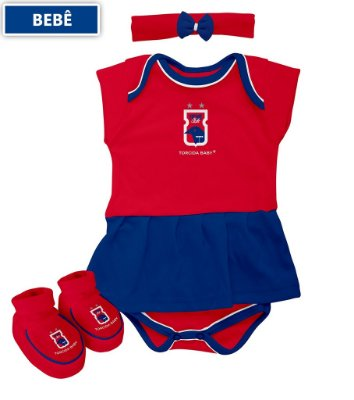 Kit 3 Peças Body Vestido Paraná Clube