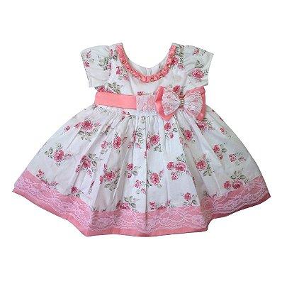 Vestido de bebê Jardim florido