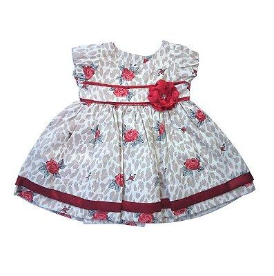 Vestido de bebê oncinha