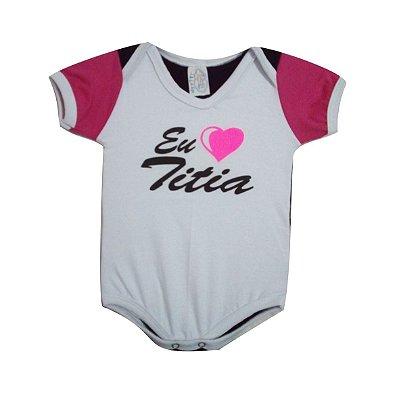 Body de bebê Eu Amo a Titia