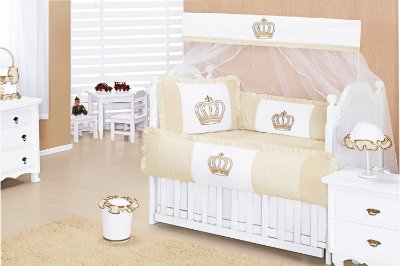 Enxoval de Quarto Completo de Bebê Coroa 15 peças
