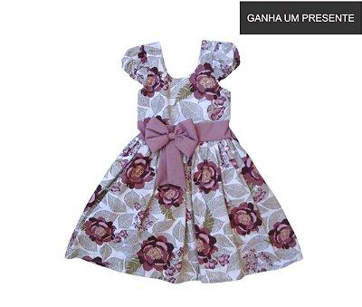 Vestido de Laço Rosas