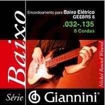 Giannini Corda P/a Baixo Elétrico Geebrs6 .032 .135 6 Cordas