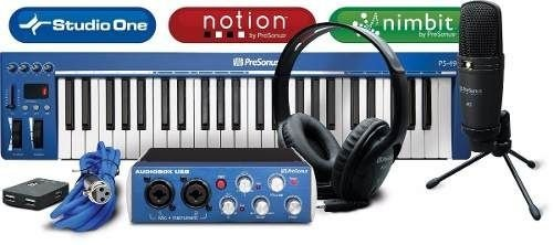 Presonus Kit Audiobox Music Creation Suite Studio Completo