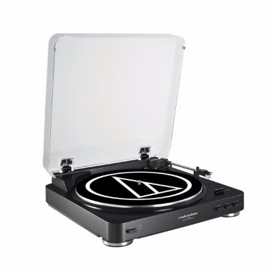 Audio Technica At-lp60 Black Toca Discos Stereo Automatico