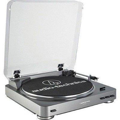 Audio Technica At-lp60 Silver Toca Disco Stereo Automatico