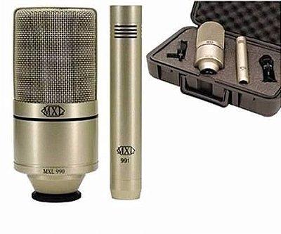Kit De Microfone Mxl Profissional Para Gravação Mxl 990/991