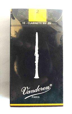 Palhetas Vandoren Clarinete Reeds Cr102 Nº2 10 Unidades