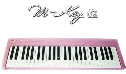 Teclado Controlador Usb Cme M-key V2 Rosa 49 Teclas Midi