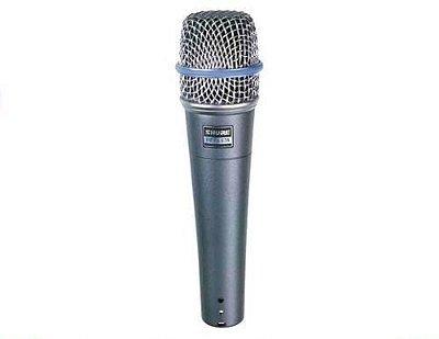 Microfone Dinâmico Supercardióide Shure Beta 57a