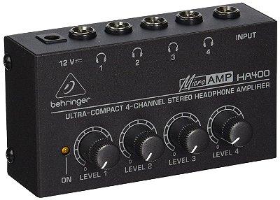 Amplificador De Fones Behringer Power Play Ha400 Ha 400