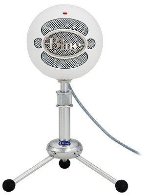 Microfone Condensador Blue Snowball Usb White