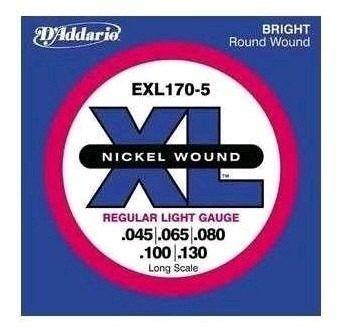 Encordoamento Para Baixo Daddario Exl170-5 Kit Com 5 Cordas