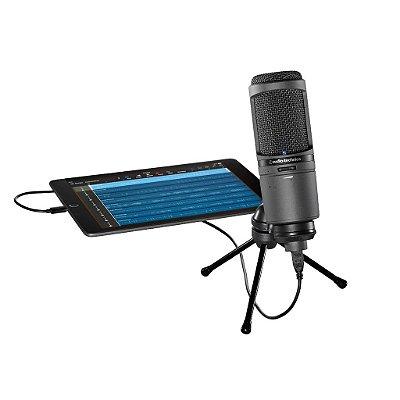 Audio Technica At2020usbi Microfone Condensador Para Estúdio