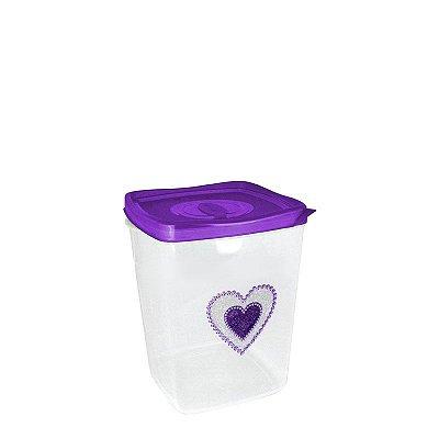 Pote glitter Coração Plasvale -1,3 L
