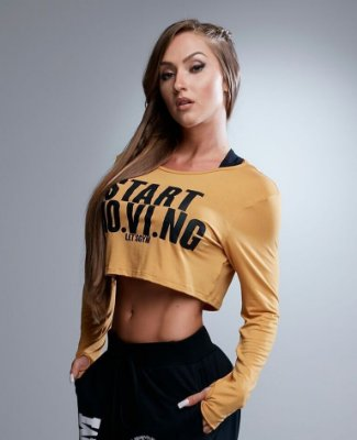CROPPED M/L NEW CAMEL LET'S GYM