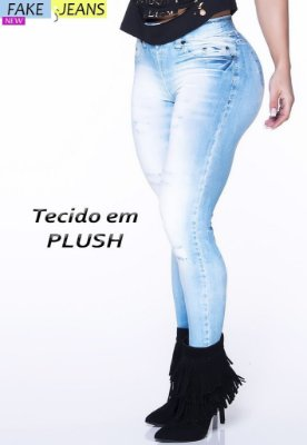LEGGING FAKE JEANS PLUSH 2609 LIPSOUL GIRLS