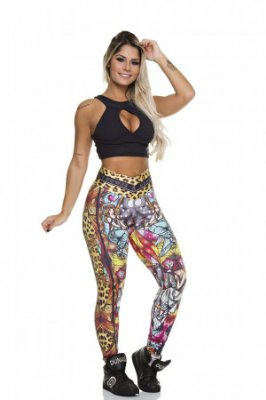 LEGGING FUSEAU DIGITAL ANIMAL PRINT DUNAS BODYPOWER