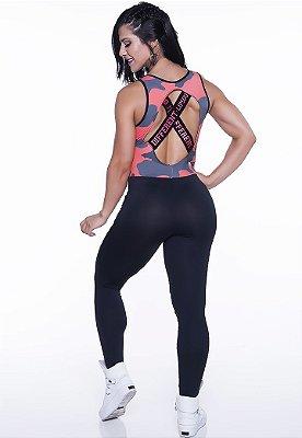 Macacão Fitness Military Lipsoul Girls