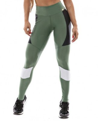 LEGGING SPORT VERDE AGAVE LET'S GYM
