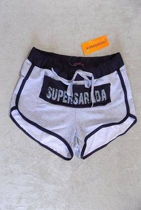 SHORT MOLETOM TARJA SUPERSARADA