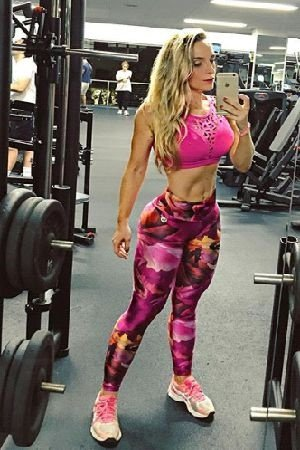 LEGGING FITNESS STS TRILOBAL ROSA BRO FITWEAR