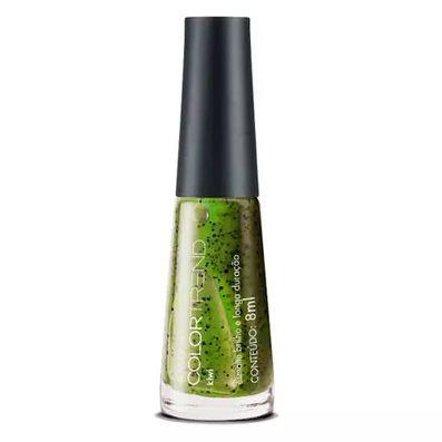 esmalte brilho e longa duração efeito pontilhado color trend kiwi
