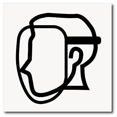 Placa de uso de máscara protetora de EPI 20x20 cm em ps 2mm
