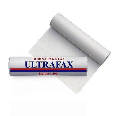 Ultrafax - Bobina térmica para fax 216 mm x 30 m