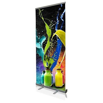 Roll up - porta banner de alto padrão em alumínio 200 cm de altura