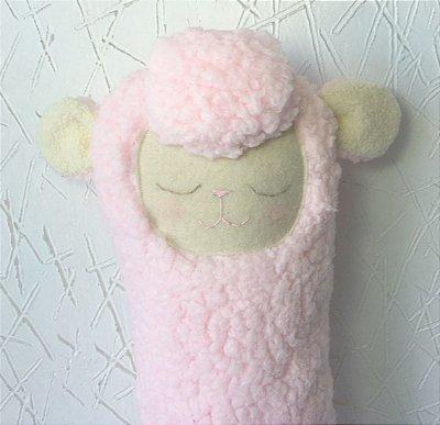 Almofada Cinto de Segurança Ovelha Rosa