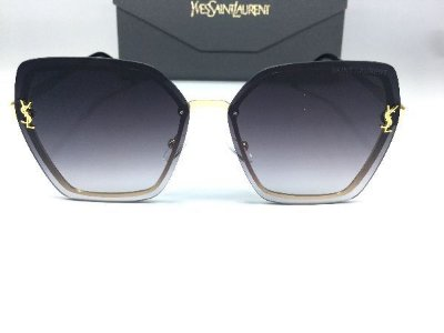 Oculos de Sol  Saint Laurent - Metal Luxury Degrade  Preto Degrade