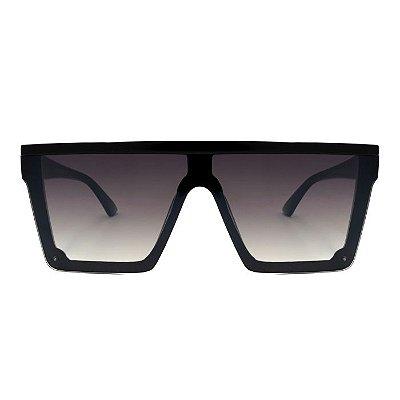 Óculos de Sol  Quadrado Espelhado Preto  - Unissex