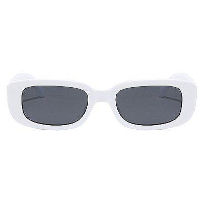Óculos De Sol Retangular Retrô - Vintage Branco