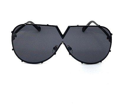 Oculos de Sol  Louis Vuitton LV  Drive Evidence  -  Lente  Preto com Armação Preto