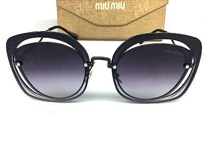 Miu Miu - MU 54S Preto - Óculos de Sol - Tamanho 64