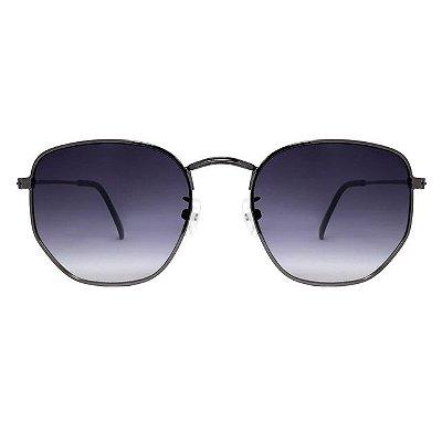 Óculos de Sol Hexagonal Preto /  Degrade