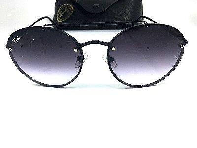 Oculos  de Sol Redondo Preto - Ray Ban