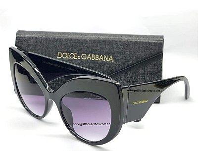 Dolce & Gabbana Gatinho DG 4321 501/8G Preto Lente Tam 55