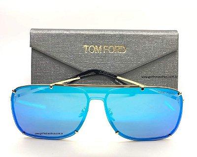 Óculos de Sol  Tom Ford   Máscara Única Espelhado