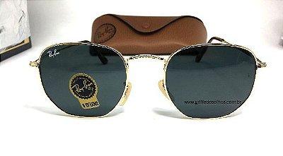 Ray Ban RB3548-N - Óculos de Sol Hexagonal / Lente Preto